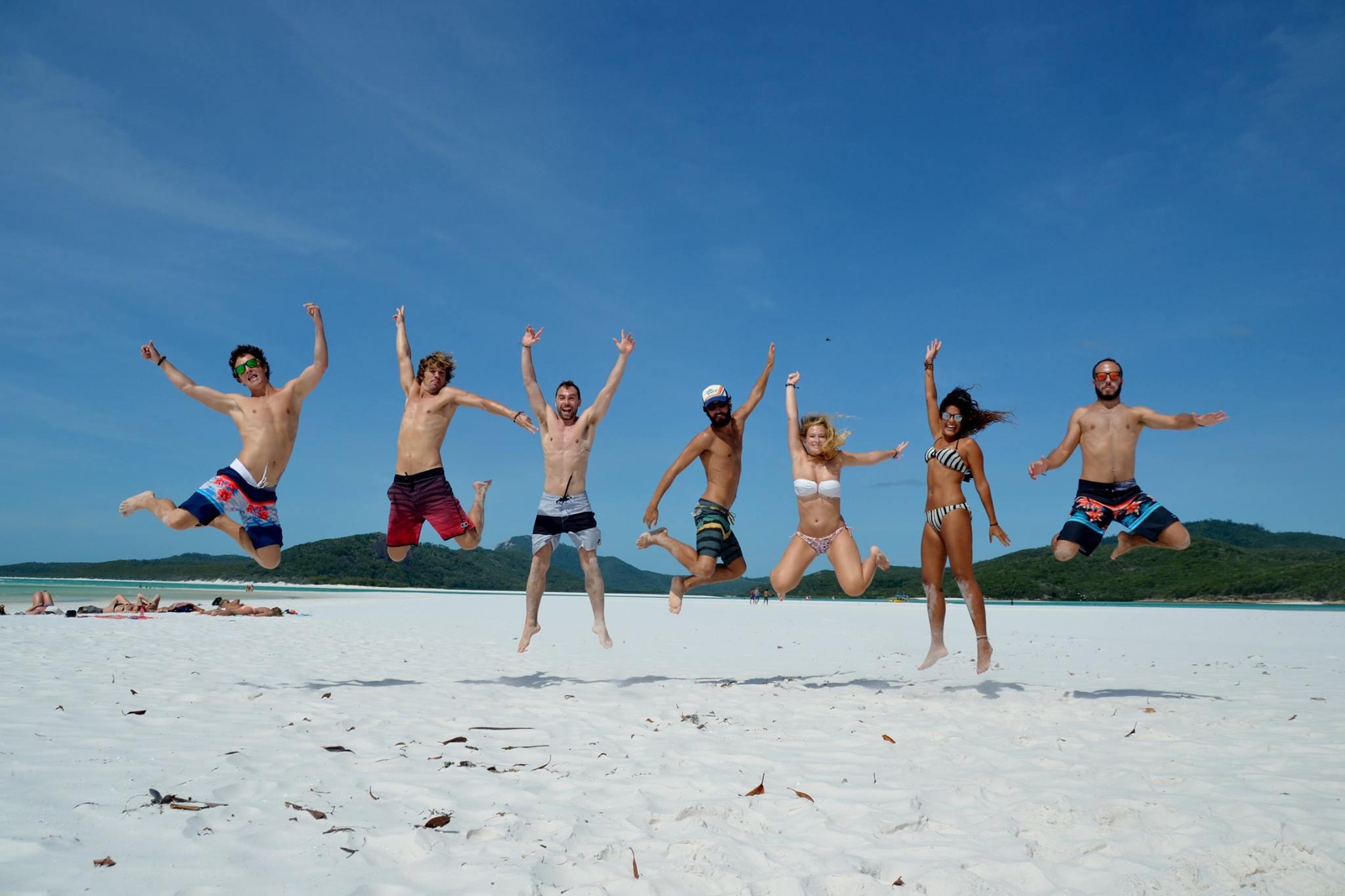 Grupo de españoles en Goald Coast