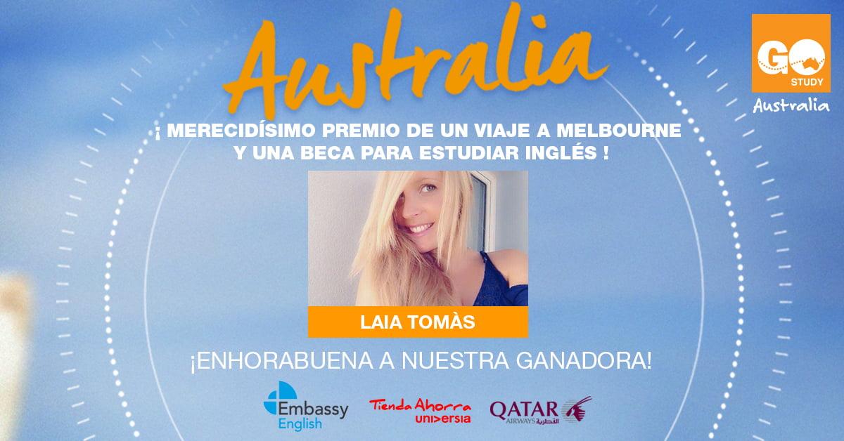 Ganadora Concurso Beca+Viaje a Australia