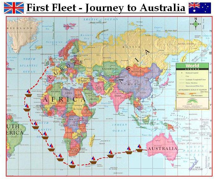 First-fleet-map-australia