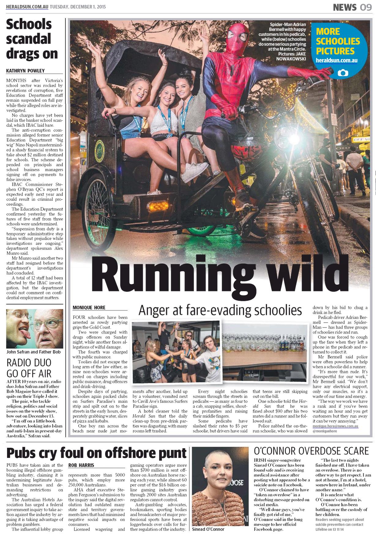 Bici-Taxista español en Gold Coast