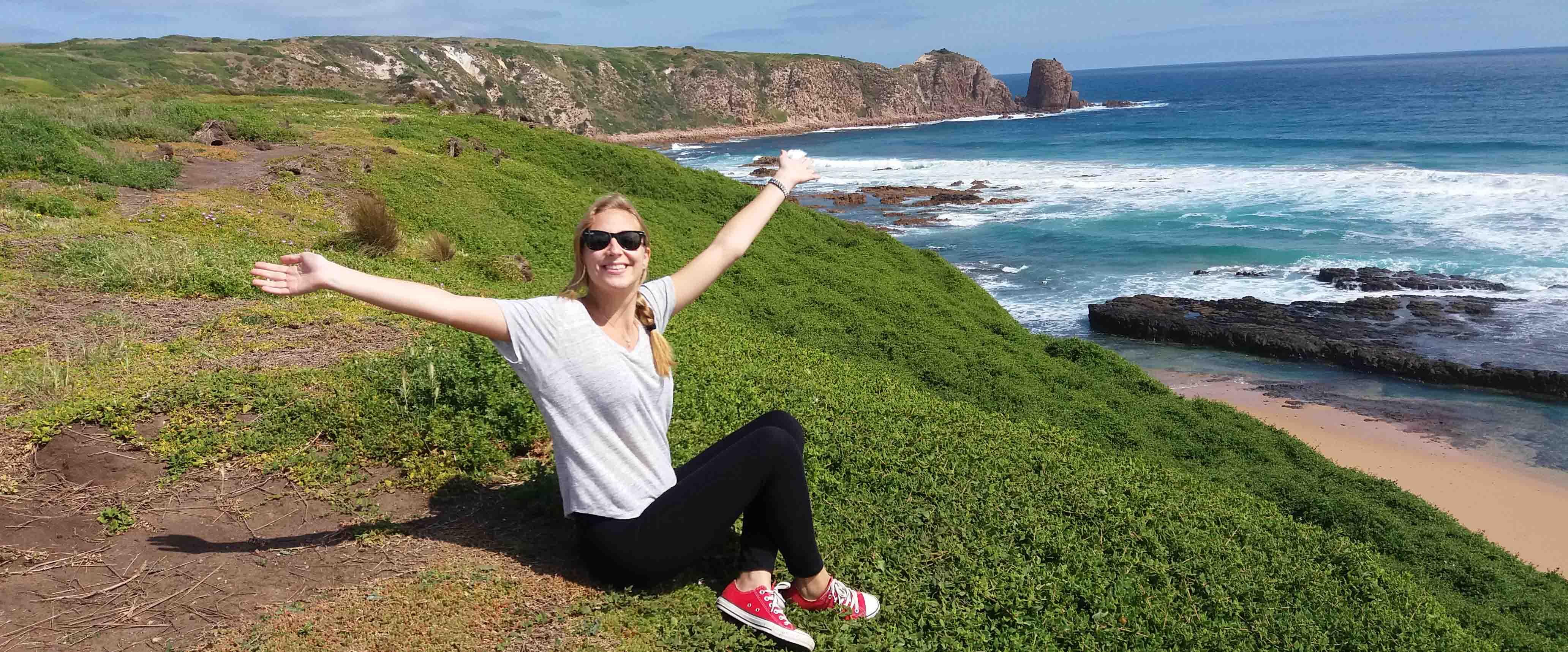Celia, estudiante de inglés en Melbourne