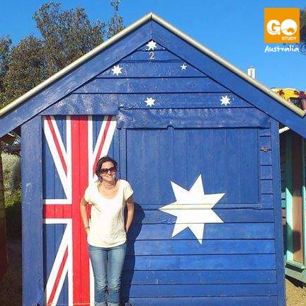 Marta, española del equipo Go Study en Melbourne