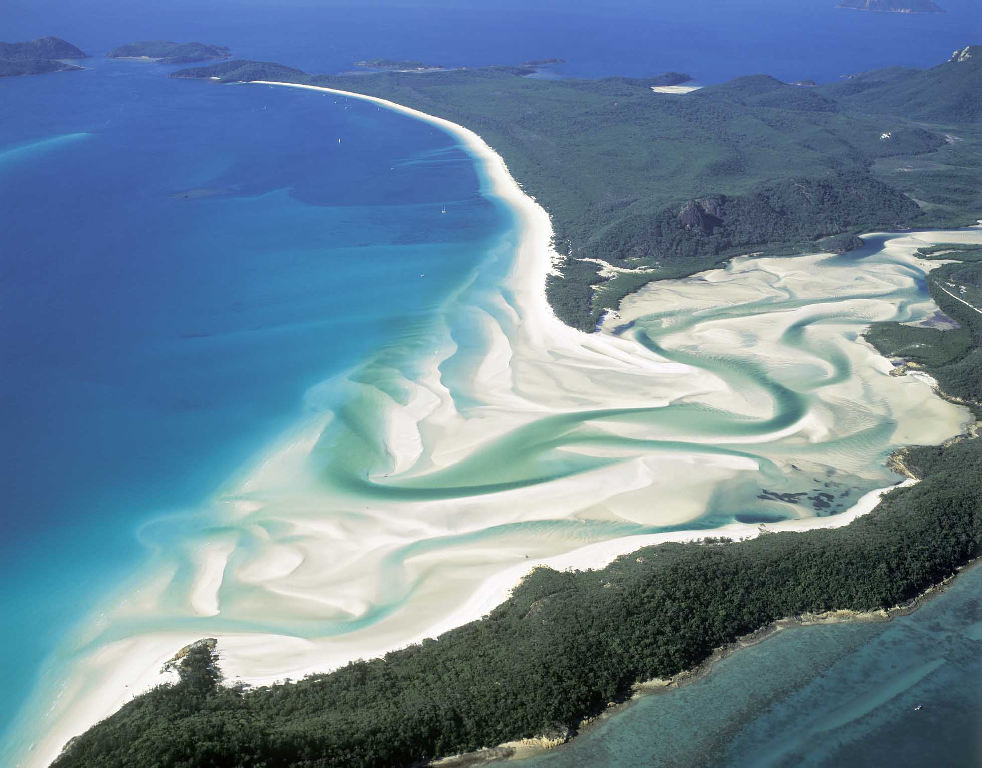 Whitehaven Beach on Whitsunday Island,Queensland,Australia.